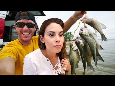 Catch n Cook White Bass with Wife - First Time Eating This Fish!