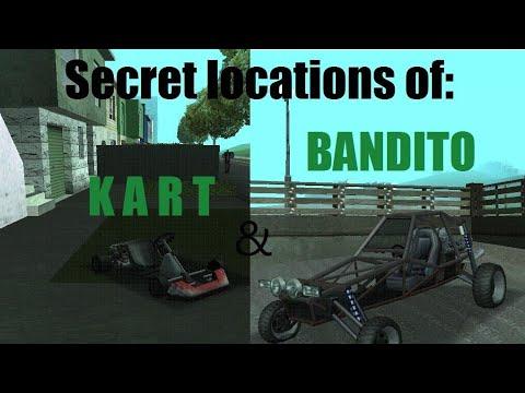 Go- Cart And Bandito Secret Locations In GTA San Andreas