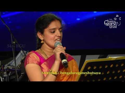Ms. Anaga singing Tu Hi Re, from the movie Bombay @ 54th Bengaluru Ganesh Utsava