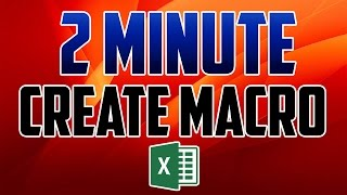Excel 2016 : How to Create Macros