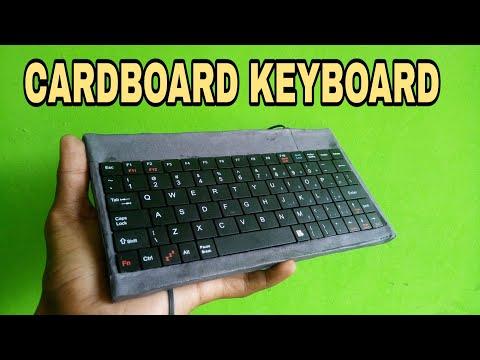 Make keyboard by cardboard 100% Working