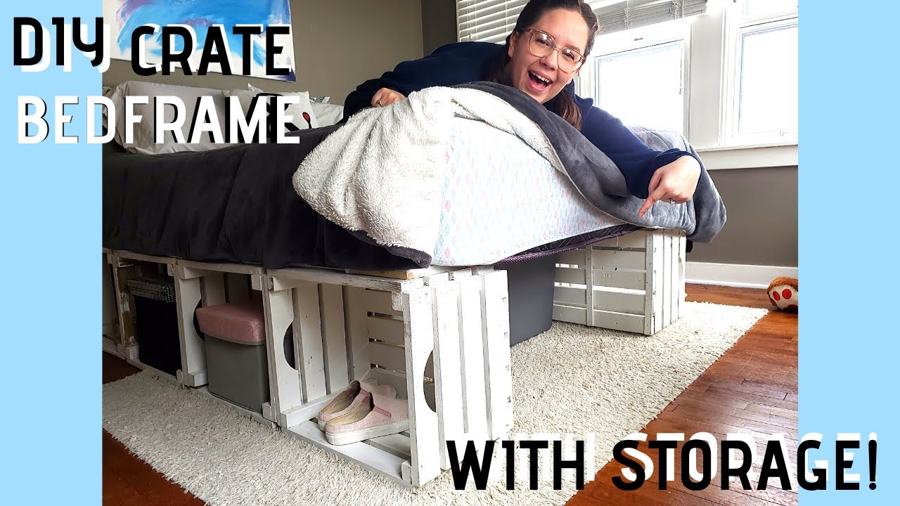 Diy Crate And Pallet Bed Frame Pinterest Inspired