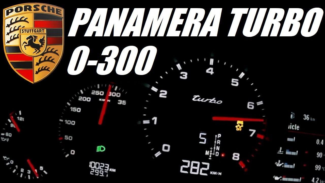 Porsche Panamera Turbo 0-300+ kph Acceleration Top Speed - YouTube