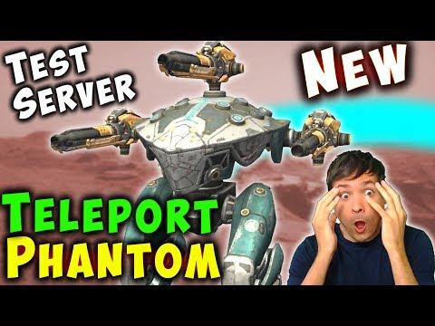 NEW TELEPORT Robot PHANTOM Test Server Gameplay War Robots WR