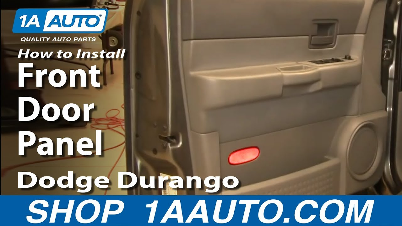 How to remove front door panel 04 09 dodge durango youtube - Installing a lock on a bedroom door ...