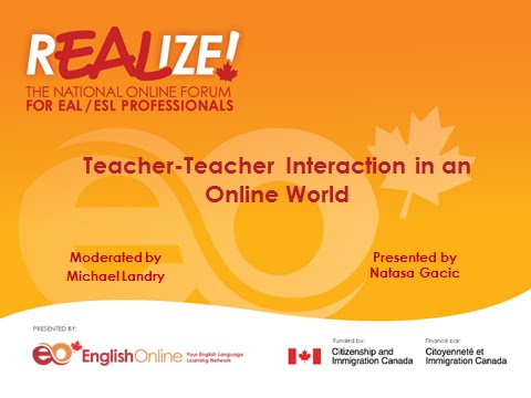 REALIZE 2015 Forum - Teacher-Teacher Interaction in an Online World