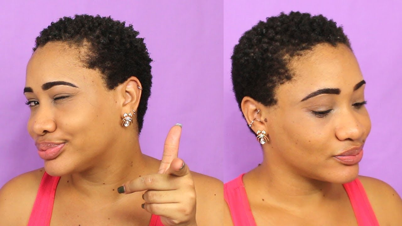 how i style my short - shaved 4c natural hair