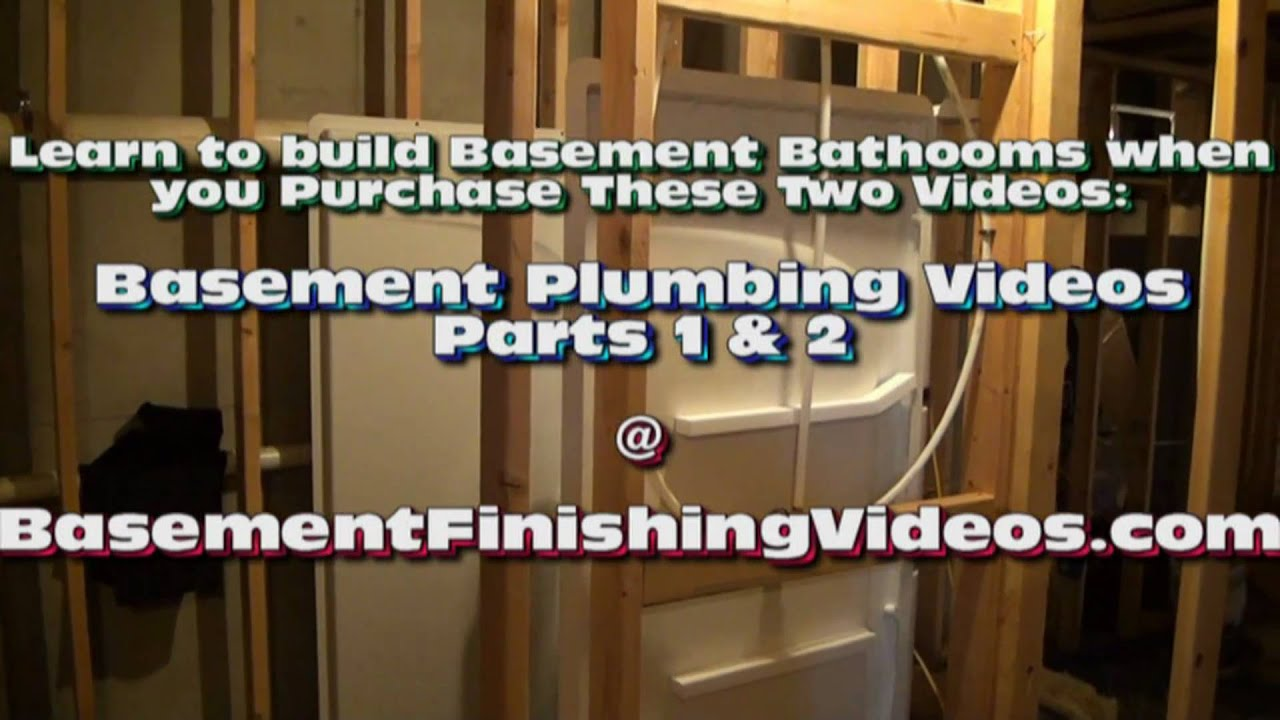 How to Frame and Plumb a Basement Bathroom & How to Frame and Plumb a Basement Bathroom - YouTube