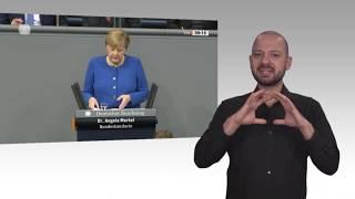 Gebärdensprachvideo: Bundeskanzlerin Merkel hält Brexit-Einigung in Brüssel für möglich