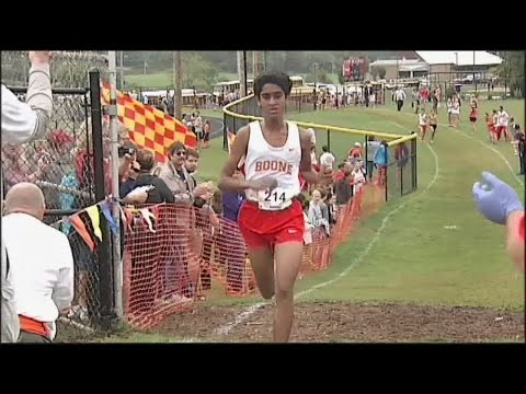 Daniel Boone's Ben Varghese gets ready for the Nike NXN in Oregon