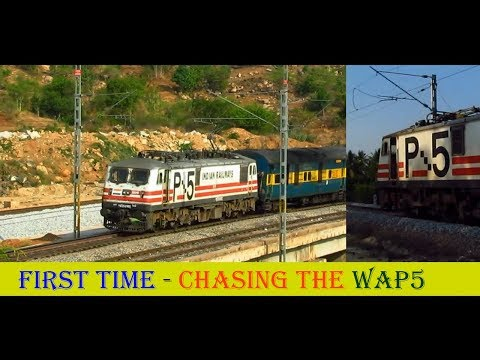 Indian Railways Birthday Treat : WAP5's FIRST VISIT via MAKALI GHATS