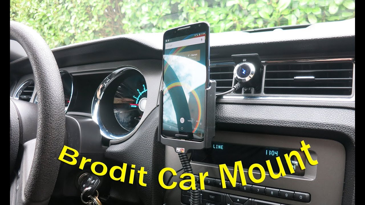 brodit active car mount - install & review (nexus 6 - mustang gt