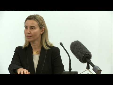 Lecture by Federica Mogherini at the University of Latvia So
