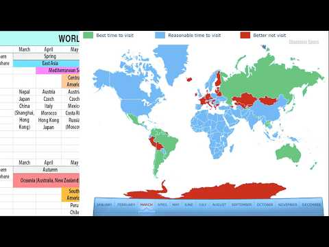 WORLD TRAVEL CALENDAR & MAP-Best Time to Travel/ Global Tourist Office Homepage