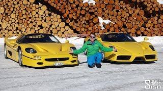 $5m FERRARI SNOW DAY! Enzo, F50, F12tdf, GTC4Lusso