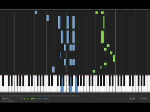 The Entertainer (full song) - synthesia