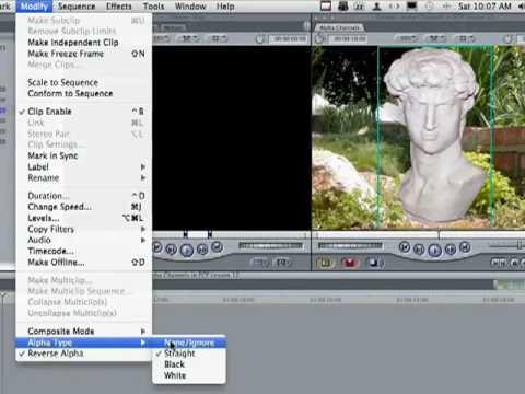 Final Cut Pro 7 Tutorial - Customized Alpha Channels