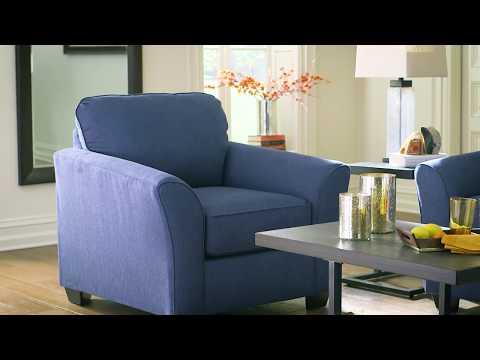 Ashley HomeStore   Terrarit Pacific Blue Living Room