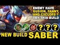 New Build SABER If Enemy Pick Fanny, Gusion, And Cyclops - Mobile Legends Indonesia