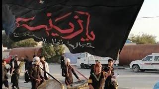 موكب نحر الحسين يستقبل موكب المهدي انصار الحجة المنتظر 15 رجب وفاة السيدة زينب الديوانية