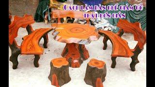 Cách làm bàn ghế xi măng giả gỗ dành cho người mới