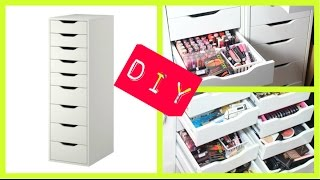 Diy Build Ikea Alex Drawers For Makeup Collection & Storage