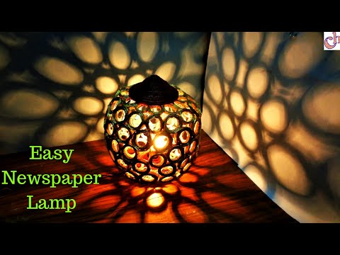 DIY: Newspaper Lamp for Diwali 2019 | Easy Room Decor