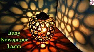 DIY Newspaper Lamp | Easy Room Decor