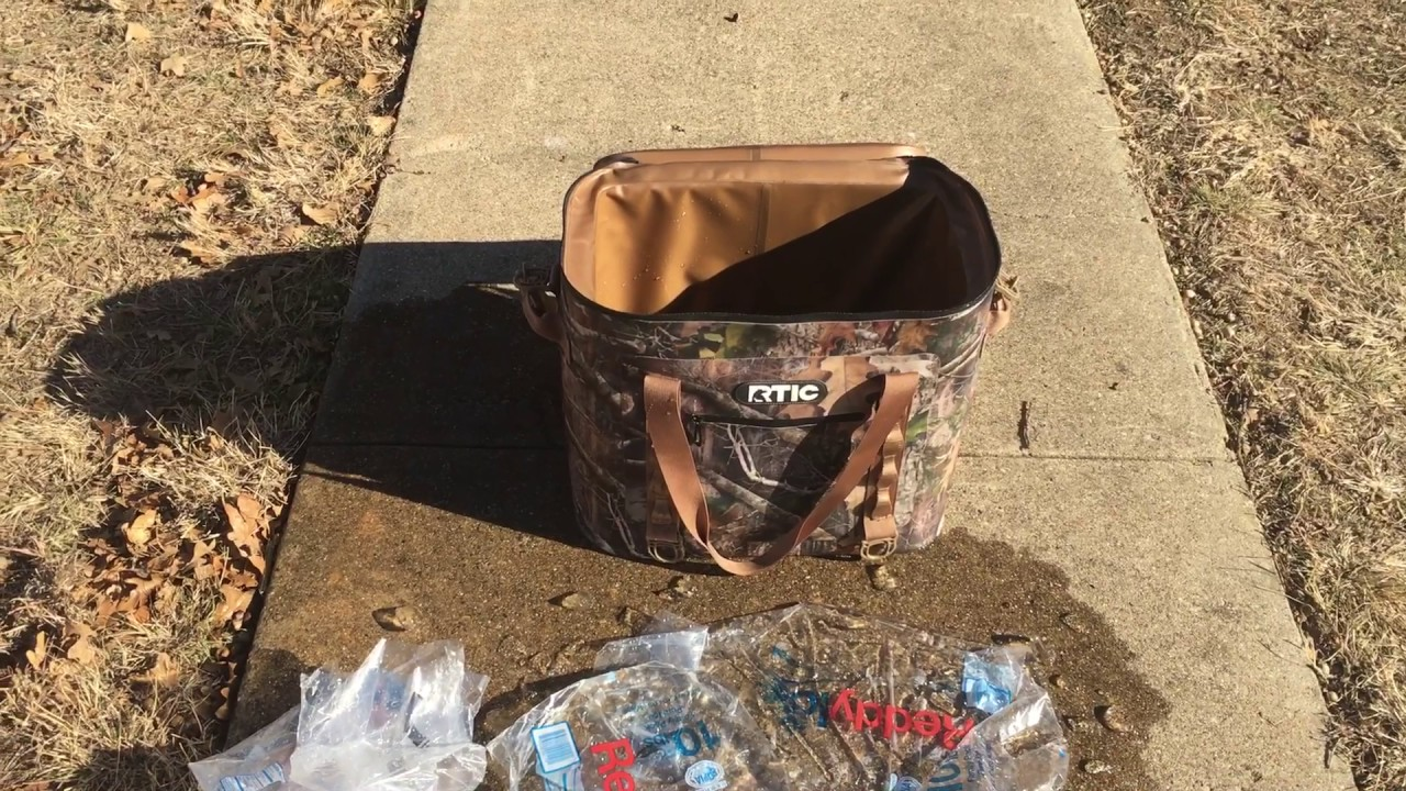 Rtic Soft Pack Cooler Camouflage 40 Can 7 Day Ice Test