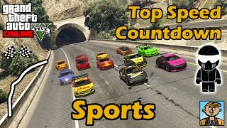 Fastest Sports Cars - Top Speeds Of Fully Upgraded Cars In GTA Online