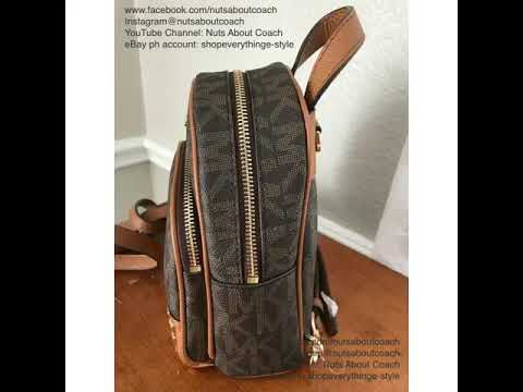 59e07836984e0a MICHAEL KORS XS ABBEY BACKPACK/CROSSBODY IN PVC COATED CANVASS - YouTube