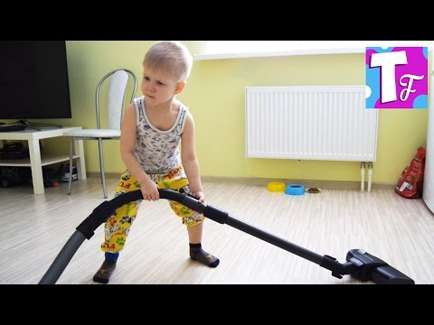 Vlog Home cleaning Clutter in the room Family video