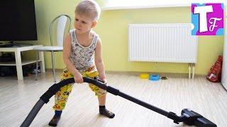 ВЛОГ Уборка дома БАРДАК в комнате Семейное видео VLOG House cleaning Family video