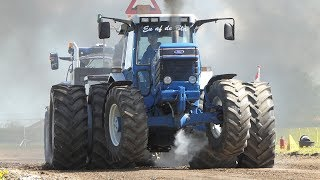 Ford TW25 Going Full Hammer Pulling The Sledge to The Edge at Jerslev Arena   Tractor Pulling