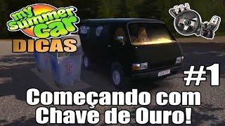 My Summer Car Dicas #1 - Começando com Chave de Ouro! (G27 mod)