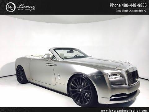 Hu102924 2017 Rolls Royce Dawn 24 Wheels Scottsdale Az Youtube