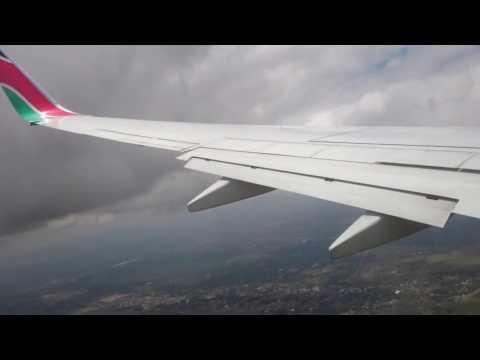 Kenya Airways Landing at Nairobi (Jomo Kenyatta International Airport)