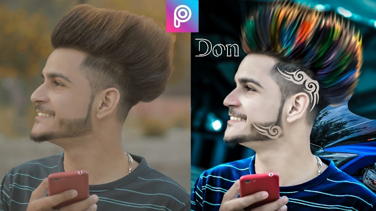 2019 hairstyle editing in picsart || change coth color + hair cutting + cb editing || tips & tricks