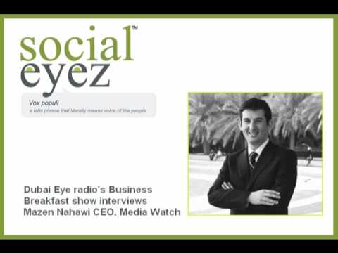 Dubai Eye radio interview with Mazen Nahawi