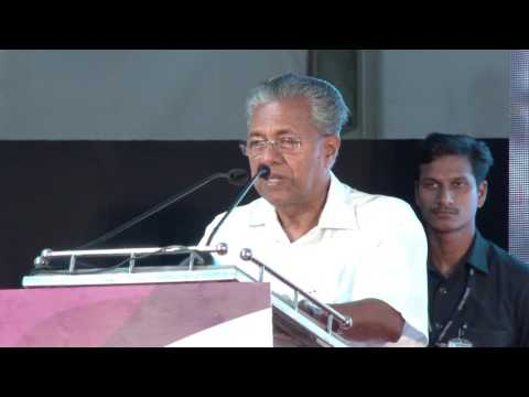 Chief Minister Inaugurating Berth Construction for Vizhinjam Port