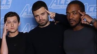 Anthony Mackie and Sebastian Stan LOVE Tom Holland!