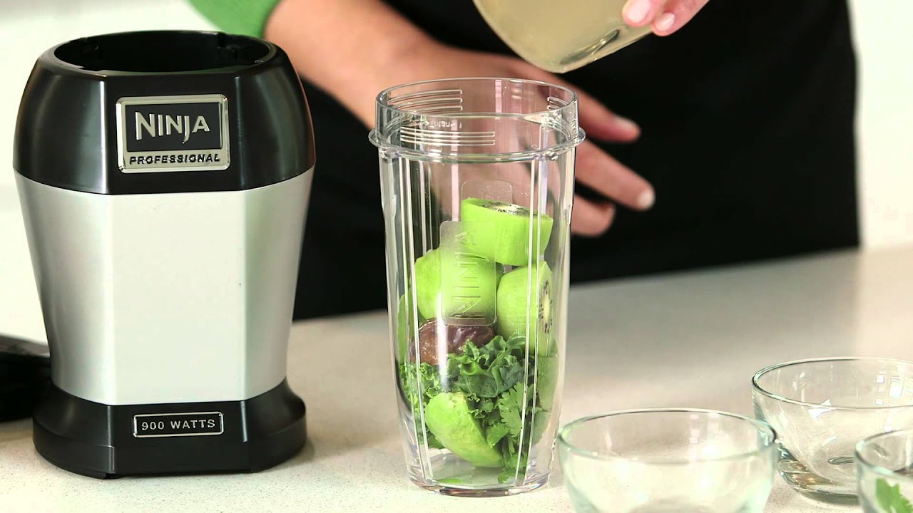 Healthy Recipe by Nutri Ninja® | Ginger Greens Drink - YouTube