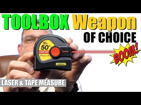 The ULTIMATE TOOL | LASER Tape Measure | 2 - in - 1 Tape Measure