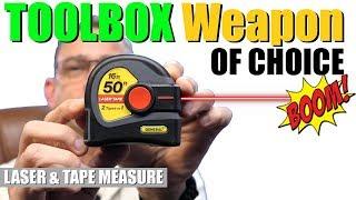 The ULTIMATE TOOL | LASER Tape Measure | 2 - in - 1 Tape Measure
