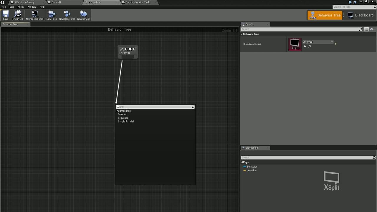 11  Creating basic Enemy AI using the behaviour tree and blackboard