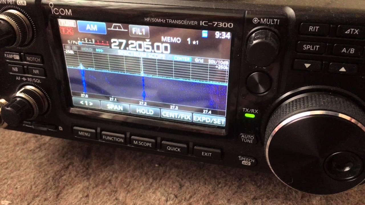 ICOM IC-7300 27MHz AM MODE 4K VIDEO