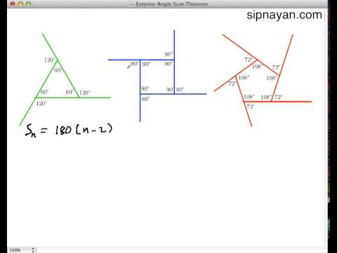Proof that polygon exterior angle sum is 360 degrees youtube - Sum of exterior angles of polygon ...