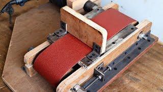 Make A Drill Powered Belt Sander || DIY Wall Mount Belt Sander