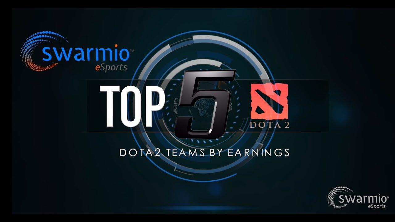 TOP 5 Dota2 Teams By Earnings YouTube