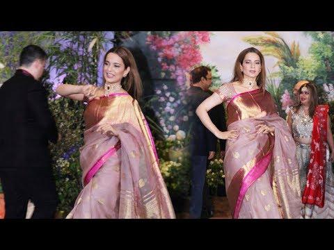 Kangana Ranaut At Sonam Kapoor & Anand Ahuja Wedding Reception
